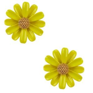 NWT KS Into the bloom stud earrings-Chartreuse